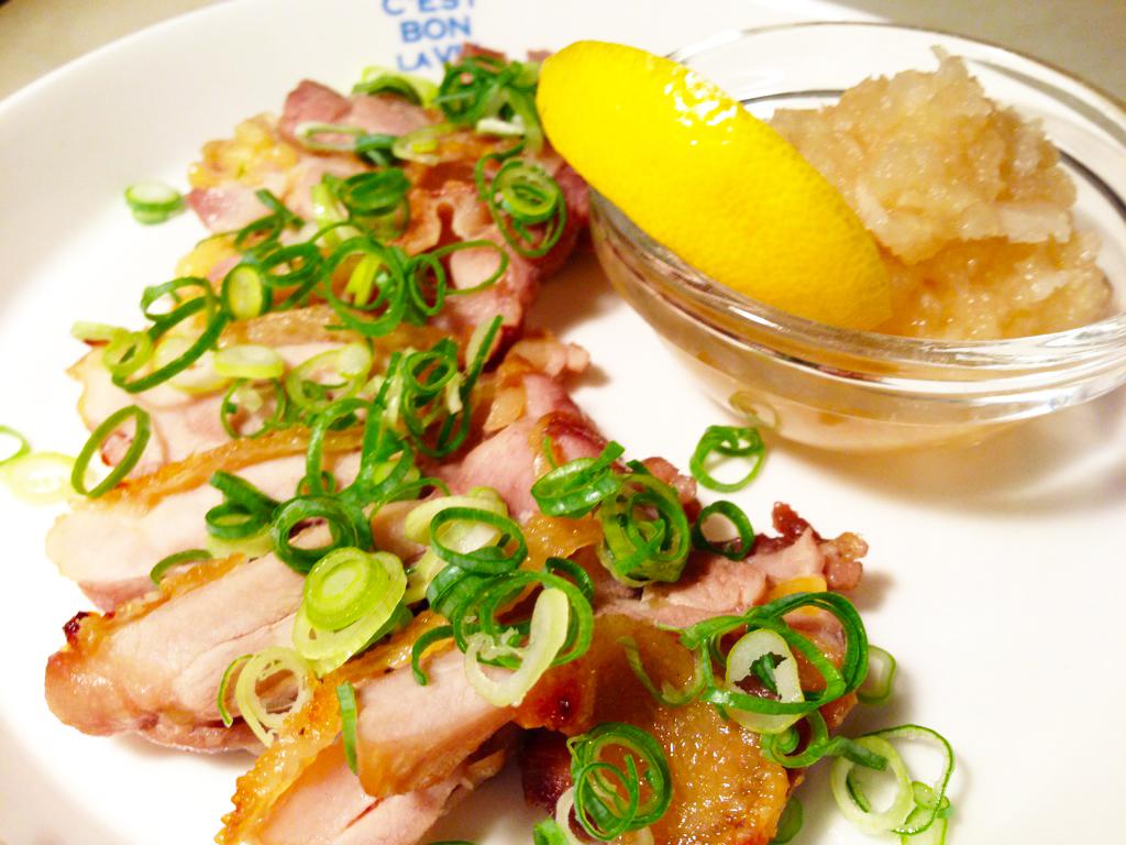 親鶏のグリル 柚子胡椒おろし